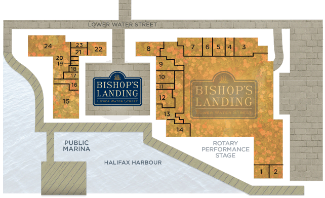 Map of Bishop's Landing