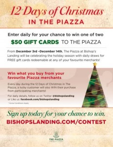 12 Days of Christmas in The Piazza