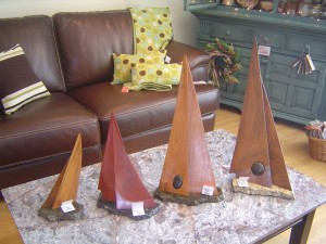 Carved Sailboats