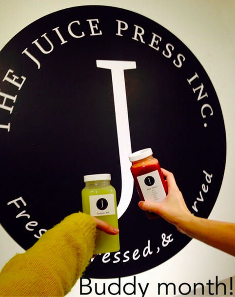 Buddy Month at Juice Press Inc