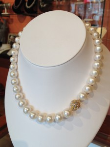 Pearl Necklace Gem Clasp Pearl City