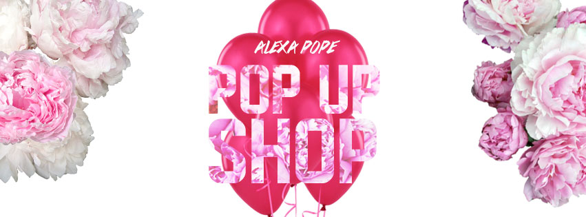 alexa pope pop up shop