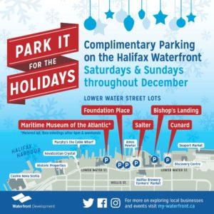 Map of Lower Water Street parking lots in Halifax